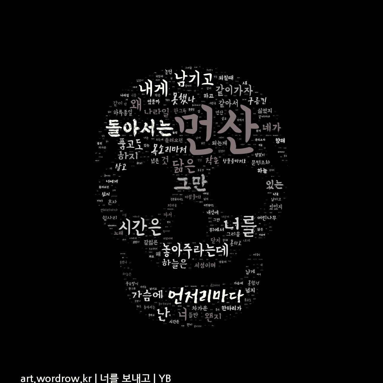 워드 클라우드: 너를 보내고 [YB]-10